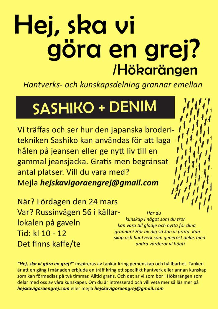 Affisch gul